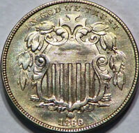 1869 SHIELD NICKEL 5C US  BRIGHT TYPE COIN GOOD LOOKING COIN G011