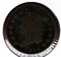 1814 PLAIN 4 VARIETY CLASSIC HEAD LARGE CENT GRADES GOOD READ PLEASE  C2291