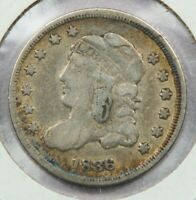 1836 CAPPED BUST HALF DIME UNCERTIFIED