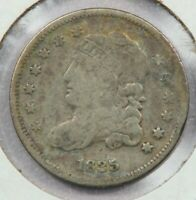 1835 CAPPED BUST HALF DIME SMALL DATE LARGE 5C UNCERTIFIED