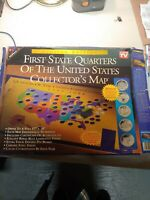 1ST STATE QUARTERS OF THE US COLLECTORS MAP 1999 2008 LIMITE