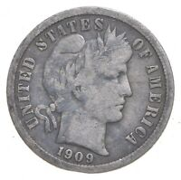 BETTER 1909   US BARBER LIBERTY SILVER DIME COIN COLLECTION