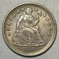 1856 LIBERTY SEATED HALF DIME, ORIGINAL CHOICE UNCIRCULATED COIN    0214-11
