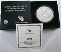 2011 P ATB FIVE OUNCE SILVER UNCIRCULATED OLYMPIC W/OGP AND