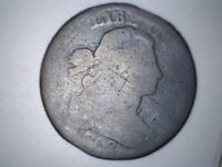 1802 DRAPED BUST LARGE CENT CIRCULATED, UNCERTIFIED