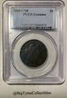 1800/1798 LARGE CENT PCGS GENUINE