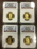 2011 S NGC PF70 ULTRA CAMEO 4 COIN PRESIDENTIAL DOLLAR SET EARLY RELEASE