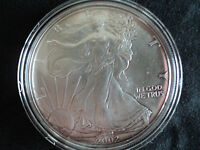 2002   $1  SILVER  EAGLE, GEM BRILLIANT UNCIRCULATED, ENCAPSULATED