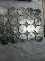 1996 SILVER EAGLE ROLL - 20 EACH UNCIRCULATED MINT CONDITION