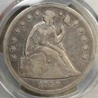 1850-O SEATED LIBERTY DOLLAR, PCGS VF-20,  NEW ORLEANS MINT DATE