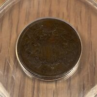 1864 TWO 2 CENT PIECE - ANACS VG 8 SMALL MOTTO - 503
