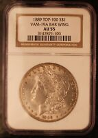 1889 NGC GRADED AT AU55  VAM 19A