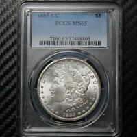1885 CC MORGAN SILVER DOLLAR PCGS MINT STATE 65 - CARSON CITY 98805