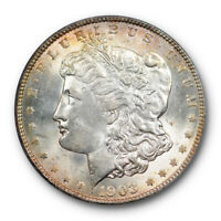 1903 O $1 MORGAN DOLLAR PCGS MINT STATE 64 UNCIRCULATED LIGHTLY TONED CERT3574