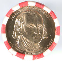 2007-D PRESIDENTIAL DOLLAR JAMES MADISON OBW HEADS/TAILS ROLL H/T UNC