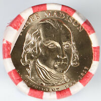 2007-P PRESIDENTIAL DOLLAR JAMES MADISON OBW HEADS/TAILS ROLL H/T UNC