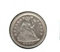 1850-O SEATED LIBERTY DIME GRADES  FINE READ C2759