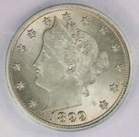 1899 LIBERTY V NICKEL ICG MINT STATE 65 FLASHY