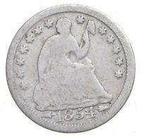 1854 SEATED LIBERTY HALF DIME   CHARLES COIN COLLECTION  333