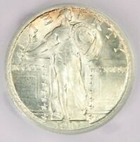 1917 TYPE 2 STANDING LIBERTY QUARTER ICG MINT STATE 64 FH MINT STATE 64FH