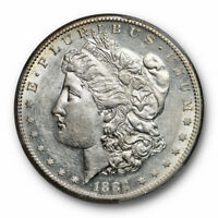 1884 S $1 MORGAN DOLLAR PCGS AU 58 ABOUT UNCIRCULATED PROOF LIKE REVERSE