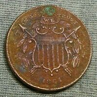1864 TWO CENTS COIN/PIECE   SMALL MOTTO VARIETY