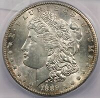 1889-S MORGAN SILVER DOLLAR ICG MINT STATE 63 MINT STATE 63  FLASHY
