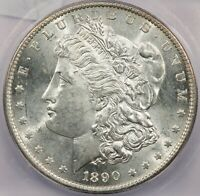 1890-S MORGAN SILVER DOLLAR ICG MINT STATE 62