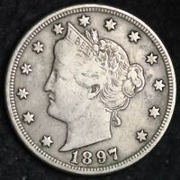 XF 1897 LIBERTY V NICKEL FREE SHIPPING