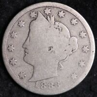 1883 WITH CENTS LIBERTY V NICKEL WITH CENTS FREE SHIPPING