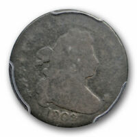 1802 10C DRAPED BUST DIME PCGS AG 3 ABOUT GOOD KEY DATE CAC APPROVED