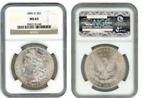 1890 O MORGAN SILVER DOLLAR S$1 NGC MINT STATE 63 3982318-048