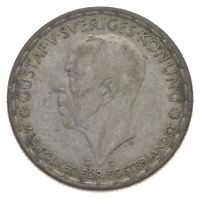 ROUGHLY THE SIZE OF A QUARTER   1942 SWEDEN 1 KRONA   WORLD