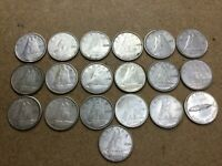 CANADA   SILVER   10 CENTS   1950 TO 1968   19 COINS   LOT