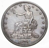1878 S SEATED LIBERTY SILVER TRADE DOLLAR   CHARLES COIN COL