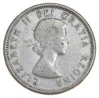 SILVER   ROUGHLY SIZE OF DIME   1958 CANADA 10 CENTS   WORLD