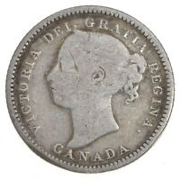 SILVER   ROUGHLY SIZE OF DIME   1886 CANADA 10 CENTS   WORLD