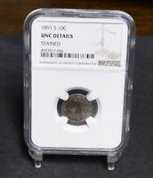 1891-S SEATED LIBERTY DIME - NGC UNC DETAILS 29482