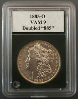1885 O  VAM 9  DOUBLED 885, LOW DATE, DOUBLED EAR