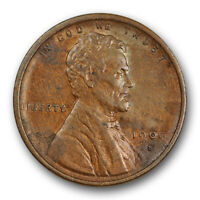 1909 S VDB 1C LINCOLN WHEAT CENT ABOUT UNCIRCULATED AU KEY DATE US COIN