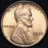 1935 LINCOLN WHEAT SMALL CENT PENNY CHOICE BU RED SHIPS FREE E605 T