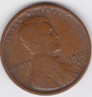 1912 S LINCOLN WHEAT CENT,  SEMI KEY DATE  F