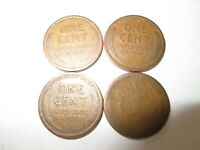 4  LINCOLN PENNY COINS - 1920, 1919S, 1923S, 1919