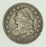 1820 CAPPED BUST DIME - CIRCULATED 4682