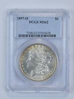 MINT STATE 62 1897-O MORGAN SILVER DOLLAR - GRADED PCGS 4832