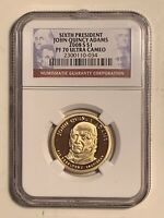 2008-S JOHN QUINCY ADAMS PRESIDENTIAL DOLLAR PROOF COIN NGC PF 70 ULTRA CAMEO $1