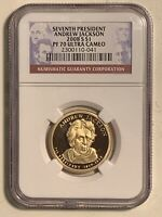 2008-S ANDREW JACKSON PRESIDENTIAL PROOF DOLLAR COIN NGC PF 70 ULTRA CAMEO $1