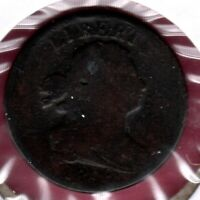 1808 DRAPED BUST HALF CENT ALMOST GOOD DETAIL C3359