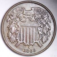 1869 TWO CENT PIECE CHOICE EXTRA FINE  SHIPS FREE E172 WEN