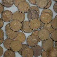 1935 LINCOLN WHEAT CENT ROLL 50 CIRCULATED PENNIES US COINS